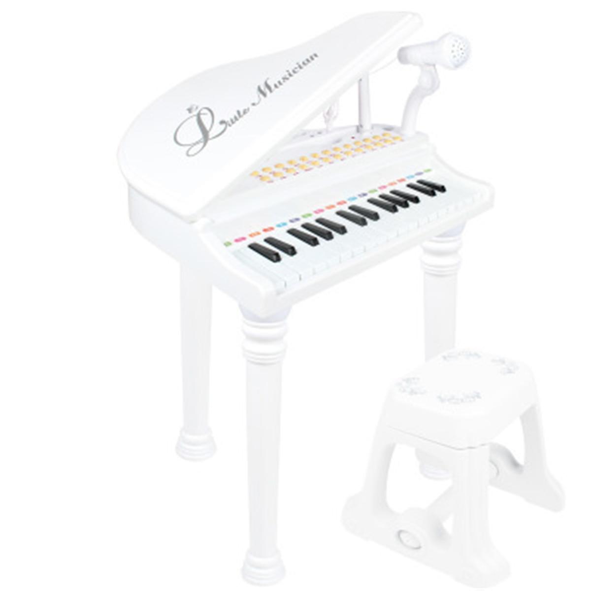 31 touches enfants Piano jouets clavier électronique Piano lumière Microphone apprentissage jouets Instrument de musique enfants cadeau 3 couleurs - 6