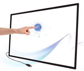 Free Shipping! 16 real touch points 65 lcd IR touch Screen Frame Panel support windows, Linux etc OS