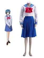 Sailor Moon Crystal Mizuno Ami Школьная форма Хэллоуин Косплей Костюм