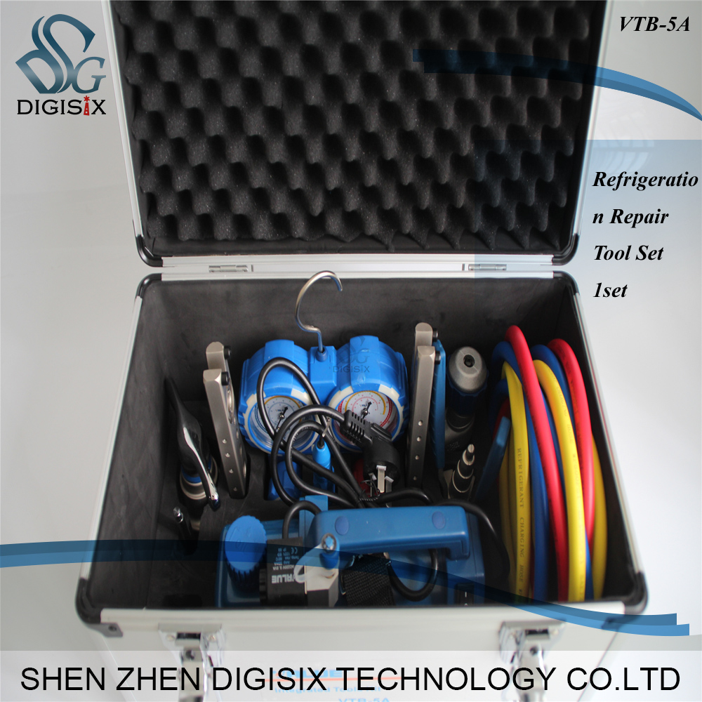 Free shipping High quality VALUE 7in1 VTB-5A Refrigeration Repair Tool Set With Aluminum alloy box  цены