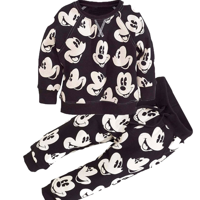 Baby Boys Clothes 2019 Spring Autumn Mickey Sport Suits Kids Casual Clothing Children Cartoon Tops Pants Two piece Set 2 6 Years in Clothing Sets from Mother Kids