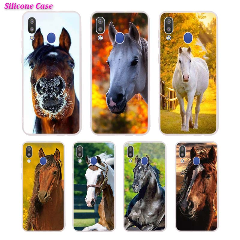 Silicone Phone <font><b>Case</b></font> Cute <font><b>horse</b></font> Fashion Printing for <font><b>Samsung</b></font> <font><b>Galaxy</b></font> A70 <font><b>A50</b></font> A40 A30 Phone bag Cover image