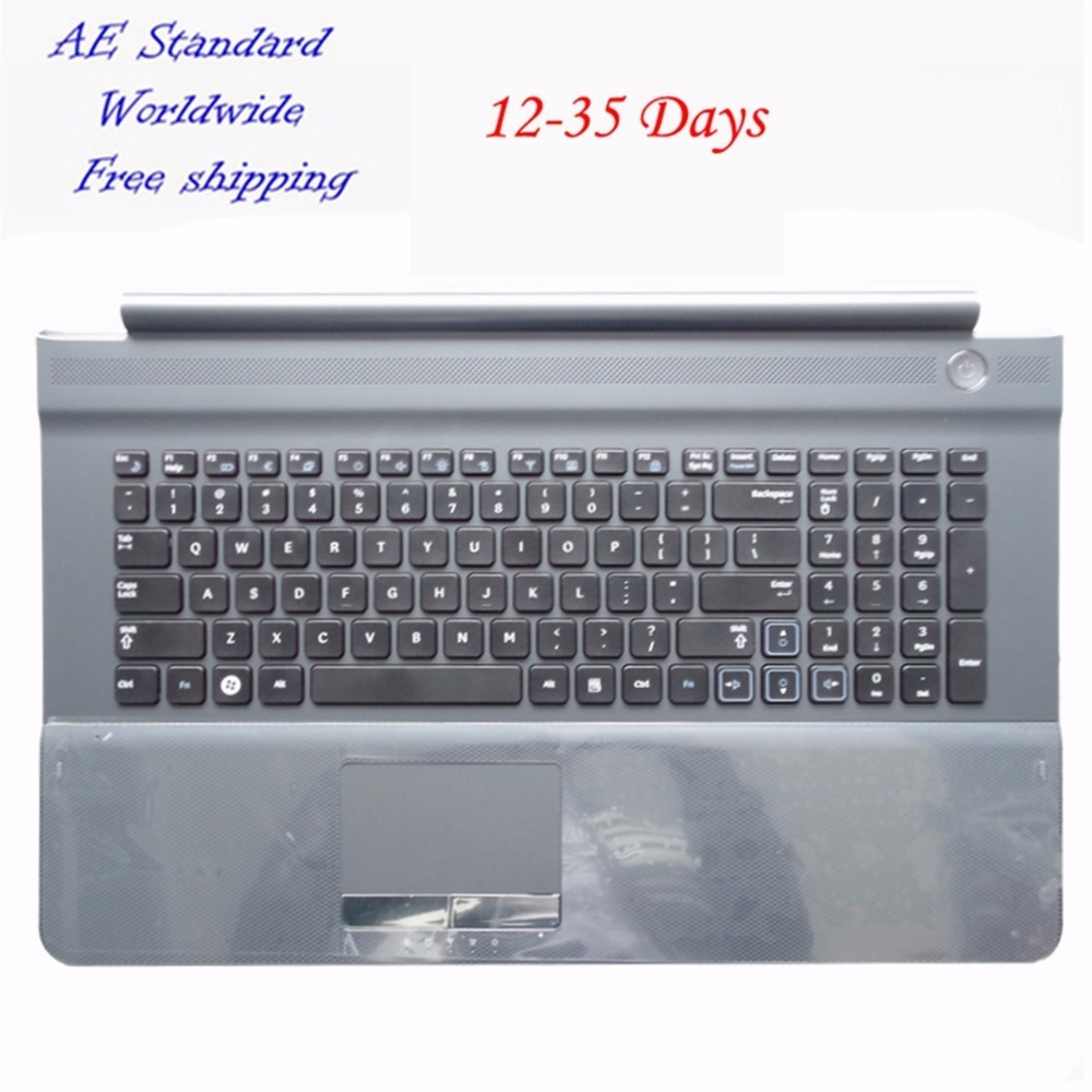 US Laptop Keyboard For SAMSUNG NP RC710 RC711 RC720 English New With C Shell Gray new notebook laptop keyboard for samsung np rc710 ba75 02837c p n 9z n6asn 10r ru russian layout