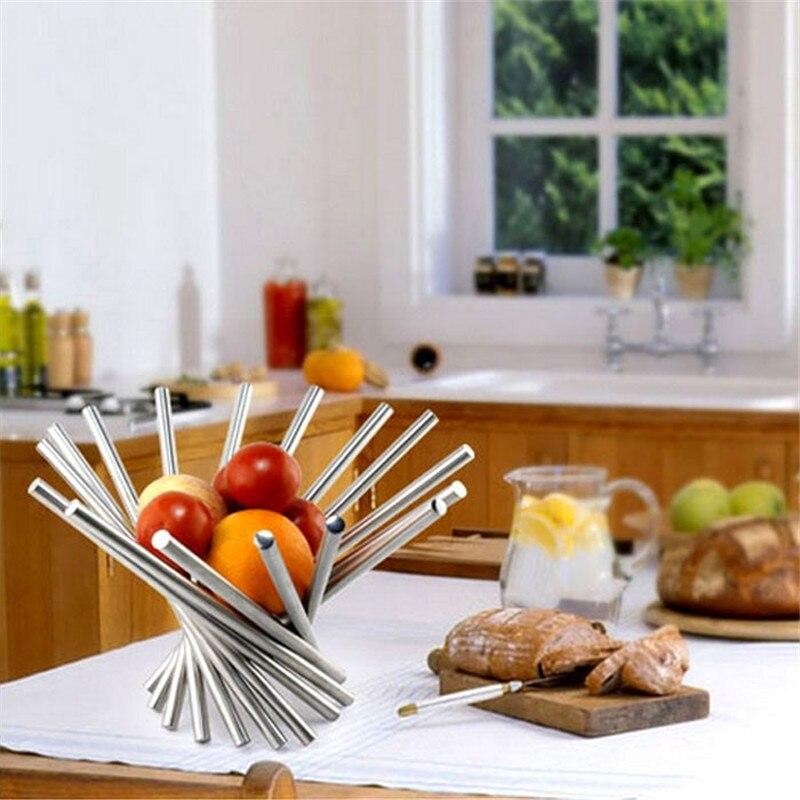 Creative Stainless steel fruit plate fruit bowl rotation fruit basket 6546