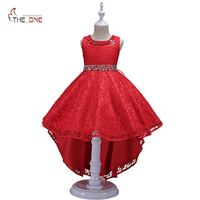 MUABABY Girls Wedding Dress Summer Kids Sleeveless Flower Princess Party Costume Children Girl Diamond Trailing Dress