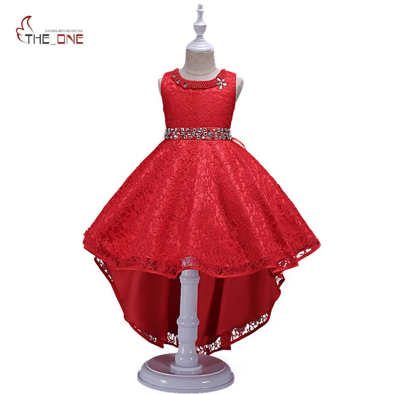 MUABABY Girls Wedding Dress Summer Kids Sleeveless Flower Princess Party Costume Children Girl Diamond Trailing Dress Ball Gown muababy big girls princess dress summer children flower sleeveless tulle prom party dresses kids girl wedding evening ball gown
