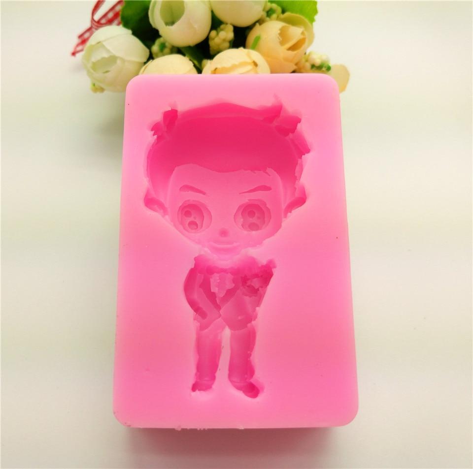 Kreslený silikonová forma Gentleman, DIY mýdlová forma, nástroje na zdobení dortu, kuchyňské doplňky LH07