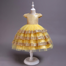 2019 Girls Dress Pegeant Sequined Backless Kids Dresses For Girls Wedding Party Princess Dresses Baby Girls Layered Tutu Dresses ship out after 20 days moq 5 pieces in same sizes same color 5390 unicorn layered baby girls dresses brithday kids dresses