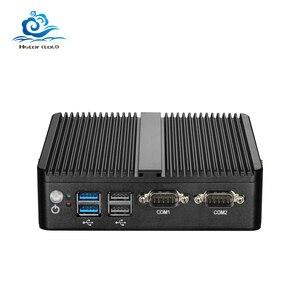 Image 1 - AVBS Mini PC Double LAN Celeron N2810 Celeron J1900 Mini Ordinateur LAN Gigabit Windows 7 pare feu pfsense PC Mini 2 * COM HDMI TV BOX