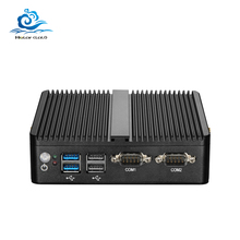 Esperanza Mini PC Dual LAN Celeron N2810 Celeron J1900 Mini computadora LAN Gigabit Windows 7 pfsense firewall PC Mini 2 * COM HDMI TV BOX