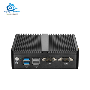 Image 1 - HLY Mini PC Dual LAN Celeron N2810 Celeron J1900 Mini Computer Gigabit LAN Windows 7 pfsense firewall PC Mini 2*COM HDMI TV BOX