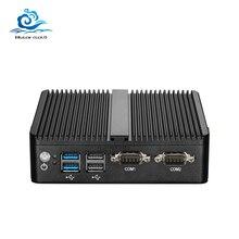 HLY Mini PC çift LAN Celeron N2810 Celeron J1900 Mini bilgisayar Gigabit LAN Windows 7 pfsense güvenlik duvarı PC Mini 2 * COM HDMI TV kutusu
