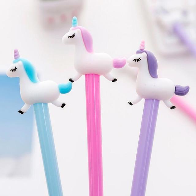 Cute Unicorn Design Black Gel Ink Pen