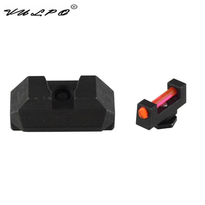 VULPO Tactical Fiber Optic Front Sight / Rear Combat Glock Sight For Glock