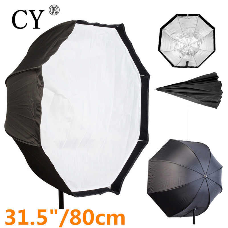 Photo Studio 80cm/31.5 Octagon Umbrella Softbox Diffuser Reflector for Speedlite Flash Photography Soft Box Light Box