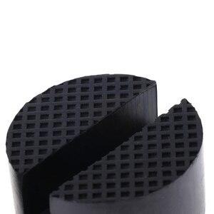 Image 3 - 2 Pcs Schwarz 50x37mm Auto Auto Schlitz Rahmen Schiene Hydraulische Boden Jack Gummi Pad