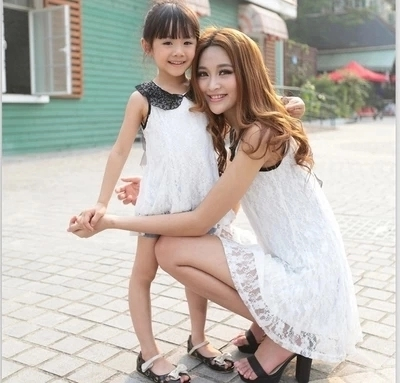 Parent child outfit 2016 mother and daughter of the summer princess han edition fair maiden dress