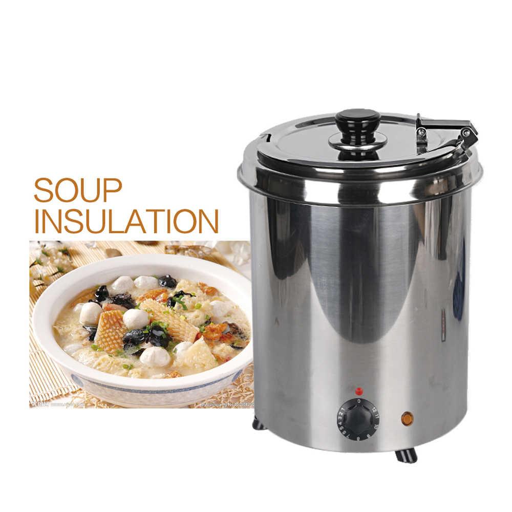 Коммерческая 5.7L большая суповая из нержавеющей стали горшки для кухни, суповая кастрюля электрическая легкая чистка