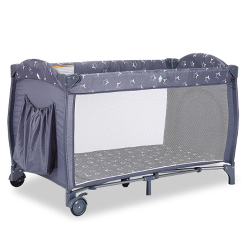 Multifunctional Foldable Baby Crib Infant Baby Bed Fence Bed Portable Playpen Sleeping Game Bed