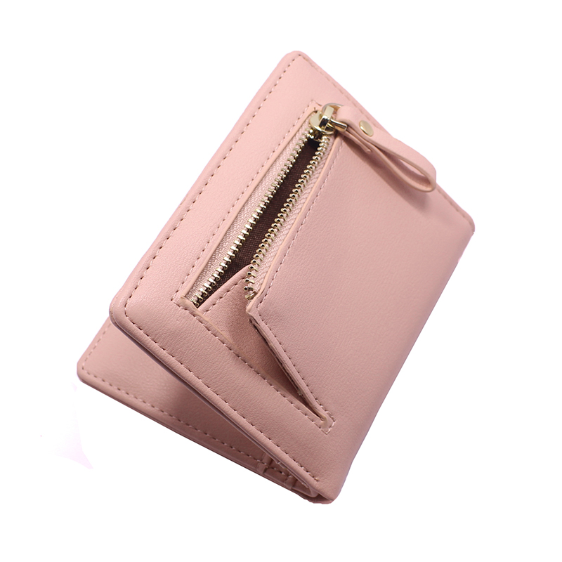 Female High Quality Clutch Money Bag PU Leather Wallet Brand Short Wallets Women Purses Fashion Coin Purse Colour Card Holder in Wallets from Luggage Bags