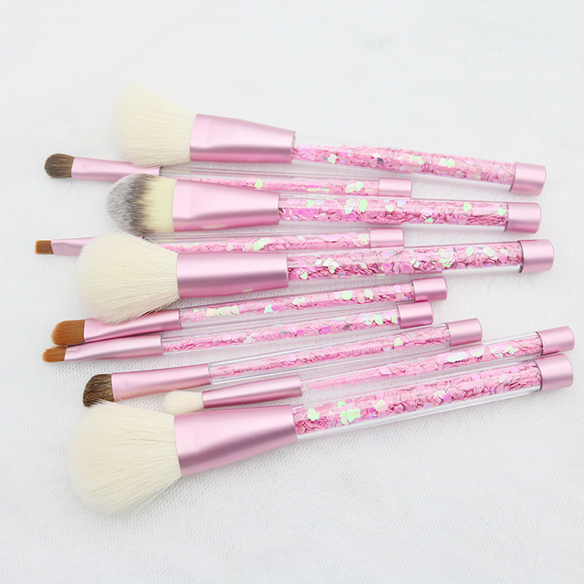 10pcs Diamond Brushes Set Crystal Handle Foundation Blending Powder Eyeshadow Makeup Brushes Set Cosmetic Bag Beauty maquiagem