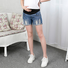 Maternity Denim Shorts Fashion Holds Jeans Short Maternity Shorts Summer Paint Maternity Pants Clothes for Pregnant Women B39