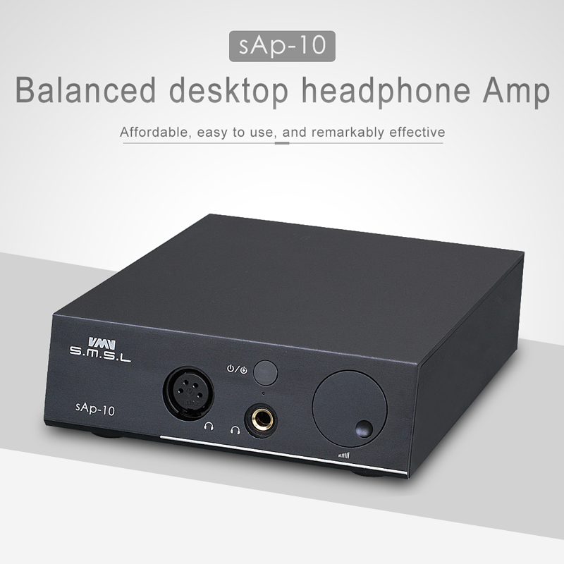 SMSL SAP-10 MINI HIFI audio Full Balance Headphone Amplifier Linear Power Supply High Power Headphones Amplifiers AMP 2*TPA6120 smsl sap 7 black