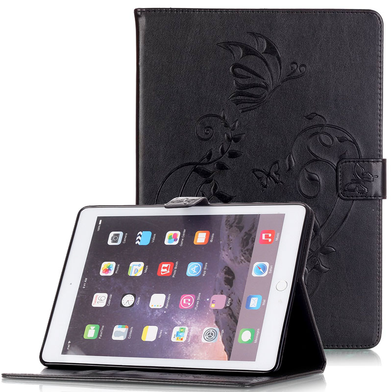 WeFor Cover Silicon Leather Case for Apple iPad Air 2 Flip Book Style Stand with Card Holder For iPad Air2 Wallet [Painting] flip left and right stand pu leather case cover for blu vivo air