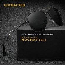 Hdcrafter gafas de sol polaroid de los hombres de conducción gafas de sol polarizadas para hombre diseñador de la marca gafas de sol de los hombres del deporte