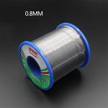 60/40 Rosin Core Tin Lead ตะกั่วบัดกรีบัดกรีเชื่อม FLUX 1.5 2.0% เหล็ก Wire REEL 50g 0.8mm