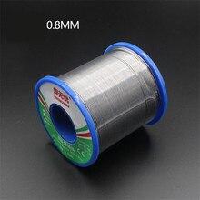 60/40 روزين الأساسية القصدير الرصاص لحام سلك لحام لحام الجريان 1.5 2.0% بكرة أسلاك الحديد 50 جرام 0.8 مللي متر