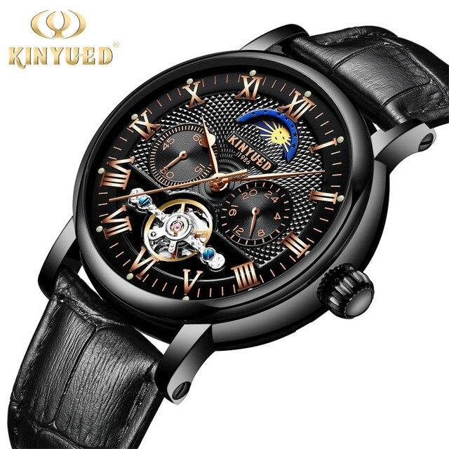 d0b37e30c31 KINYUED Esportes dos homens Top Marca de Luxo Relógio Mecânico Automático  Auto vento relógio de Pulso