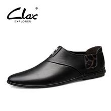 CLAX Man Moccasins Genuine Leather Summer Men's Leather Shoes Slipons Breathable Male Loafers Boat Footwear clax mens moccasins genuine leather 2019 spring summer casual shoe male fashion boat shoes loafers breathable walking footwear