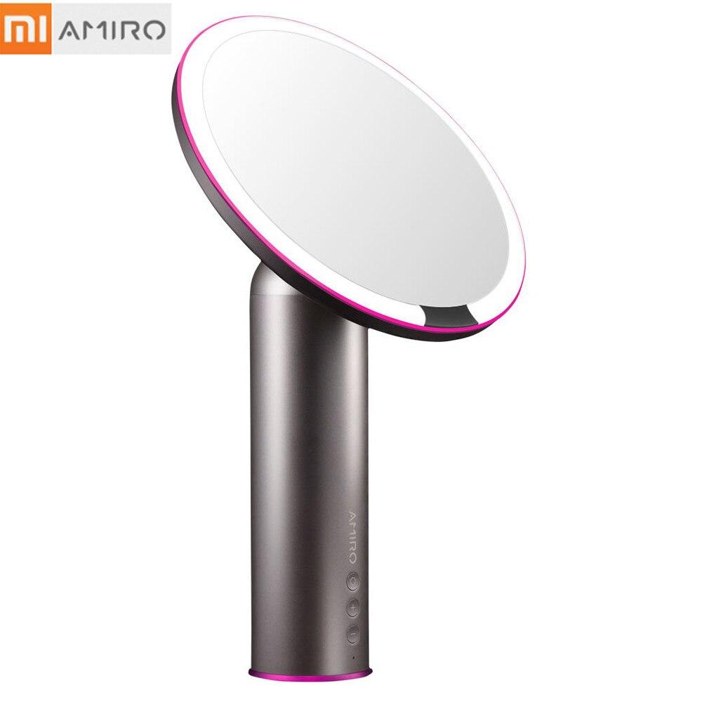 Xiaomi AMIRO LED Smart Sensor Makeup Mirror 8 Inch HD HD Natural Light Source Brightness 2000mAh Cosmetic Makeup Led Mirror LampXiaomi AMIRO LED Smart Sensor Makeup Mirror 8 Inch HD HD Natural Light Source Brightness 2000mAh Cosmetic Makeup Led Mirror Lamp