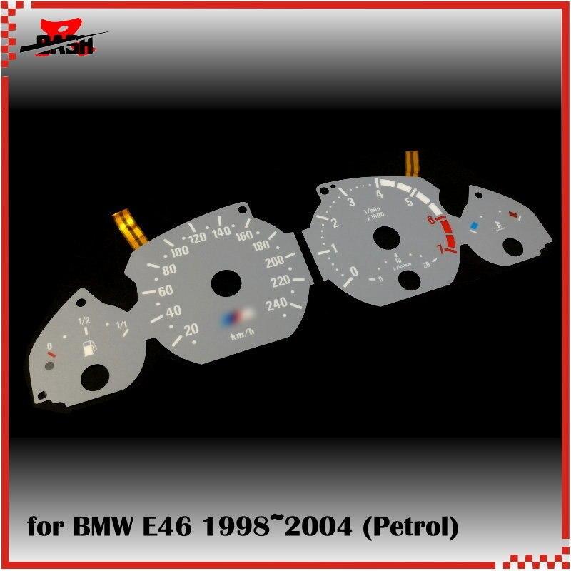 DASH 7000 RPM EL Glow Gauge for 3 series E46 Petrol Reverse Glow Gray face White