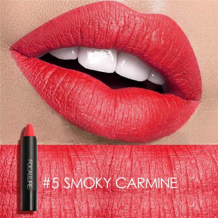 High Quality Focallure Women Matte Lipstick Pen Waterproof Long-lasting Cosmetic Nude Lady Lips Makeup Lipsticks well 12