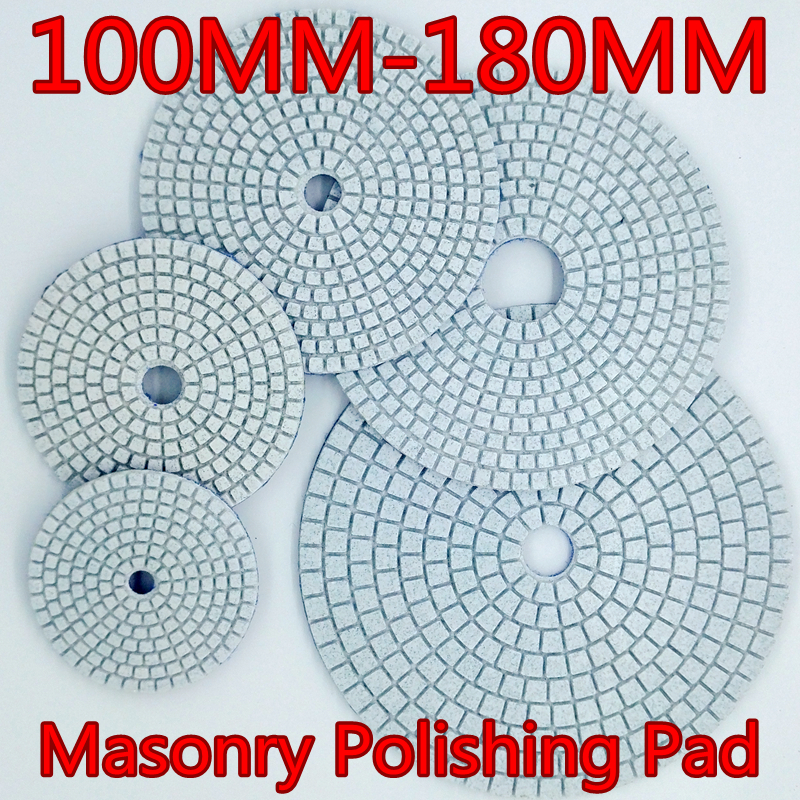 15pcs/lot 7 inch Granite,marble,Concrete Ceramic 180mm Wet Diamond polishing pads  free shipping standard 5 125mm with 2 5mm flexible 5 inch polishing pads for granite and marble