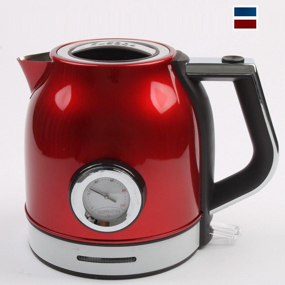 DMWD 1.8L Термометр Электрический чайник 220 Нержавеющая сталь водонагреватель В 1500 В автоматический мощность Off 304 Вт быстро кипения