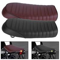 Motorcycle Seat Cushion Motorcycle Refit Flat Vintage Cushion Saddle for Honda CB CL AX100 CG125 for Retro Cafe Racer