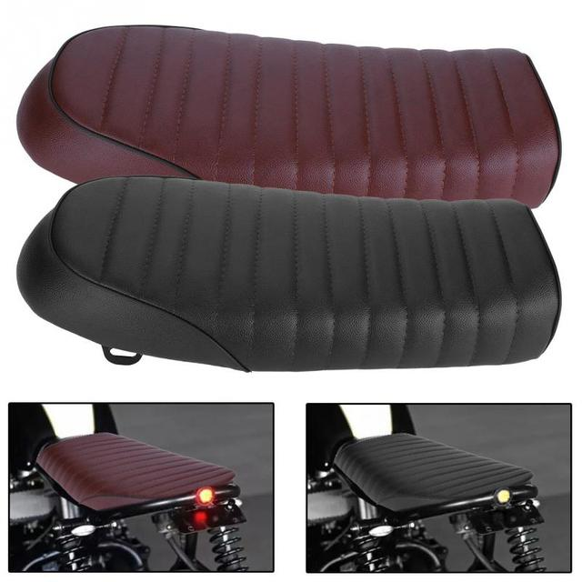 Us 30 35 24 Off Motorcycle Seat Cushion Motorcycle Refit Flat Vintage Cushion Saddle For Honda Cb Cl Ax100 Cg125 For Retro Cafe Racer On