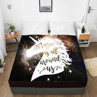 3D HD цифровая печать индивидуальная кровать лист с эластичным, встроенный двойной лист полный королева король, наматрасник 160x200, Волшебный е...