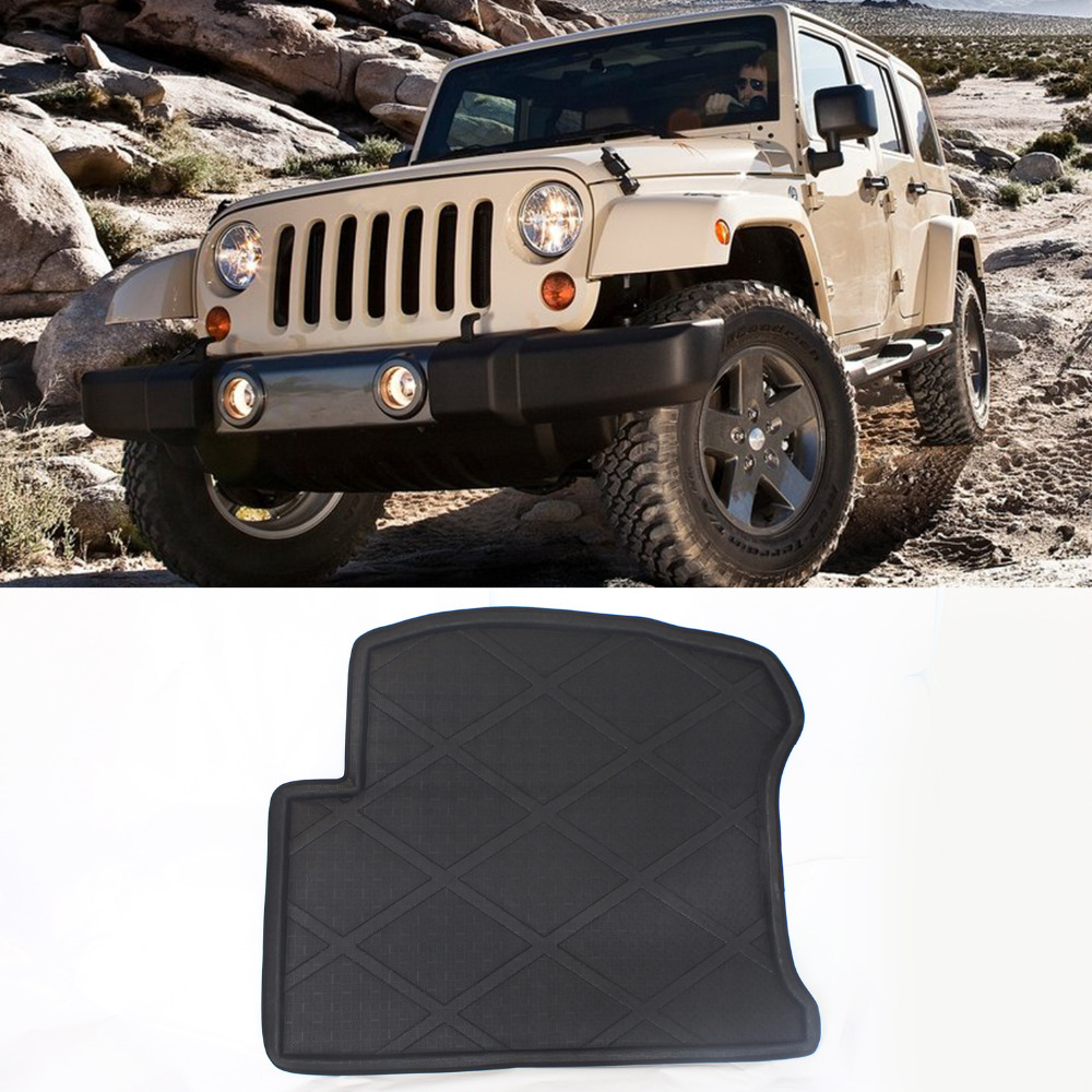 Rubber floor mats jeep sahara - Truck Car Black Waterproof Top Quality Design Cargo Truck Mat Carpet Rear Tray Liner Protector For
