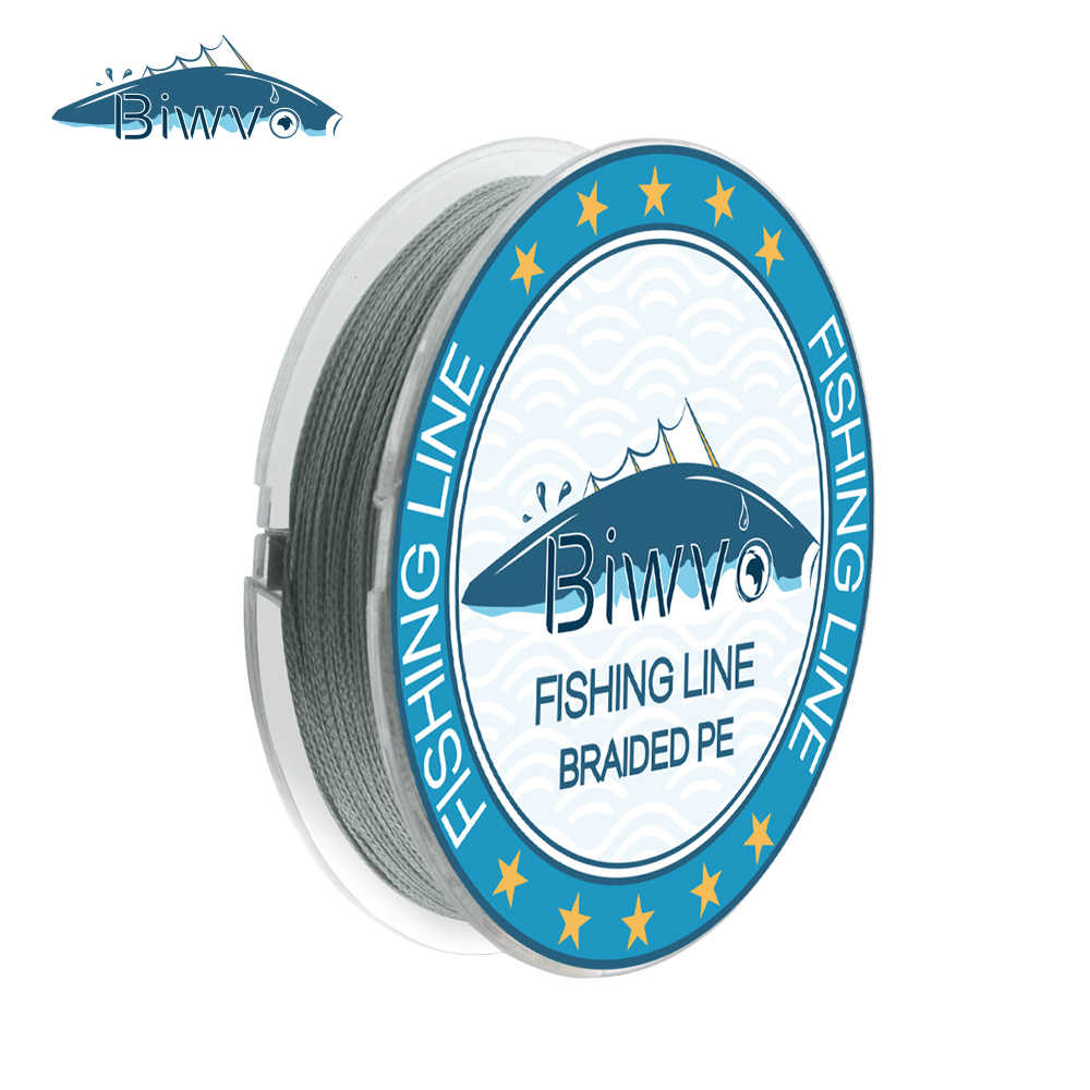 BIWVO Vissen PE Lijn 100 m 4 Strengen Lijn Speargun Gevlochten Draad Materiaal Multifila Sterke Tresse Filament Riemen Zee Voor vissen