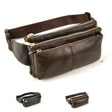 Fashion Genuine Leather Waist Bag Men Fanny Pack Classic Belt Purse Bum Money Pouch Women Messenger Casual