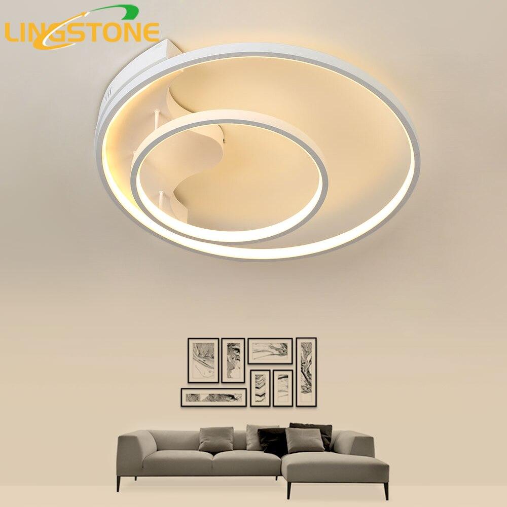 Moderne Led Plafonnier avec Télécommande Anneau Cuisine Éclairage de Plafond Lampes pour Salon Chambre Restaurant Salle De Bains