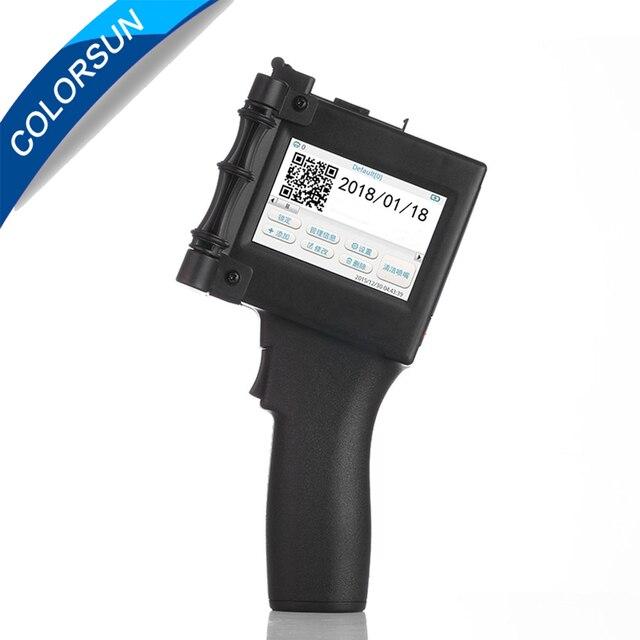 3.5 סנטימטרים כף יד אינטליגנטי הזרקת דיו מדפסת מגע מסך 360 T דיו תאריך המתכנת קידוד מכונה + מהיר ייבוש דיו מחסנית