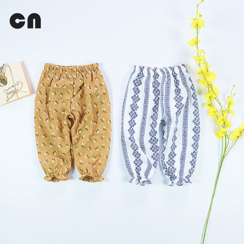 Sommar tunna 0-2T baby pojke och flickor byxor Bomull Linne material - Babykläder