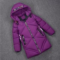 Girl Warm Coats Winter Jacket for Girls Hooded Long Children Outerwear Size 6 8 10 12 Years Kids Winter Coat Baby Girl Clothes