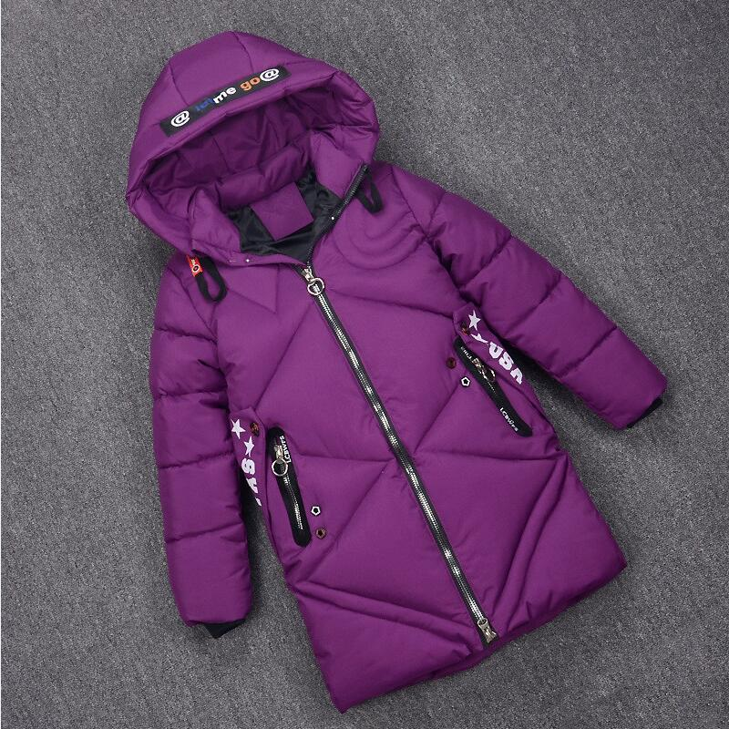 Girl Warm Coats Winter Jacket for Girls Hooded Long Children Outerwear Size 6 8 10 12 Years Kids Winter Coat Baby Girl Clothes christmas cotton padded parkas teen winter coat girl long red pink black hooded warm winter jacket for girl 6 years 8 10 12 14