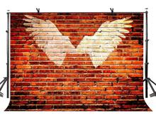 150x220cm Red Brick Wall Backdrop Opening Wings Photography Background Studio Props стоимость